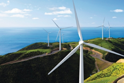 Siemens turbines at New Zealand's first wind farm