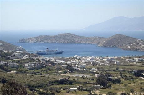 High winds… The Greek government has approved licences for 219MW in the Cyclades islands (pic: Titanas)