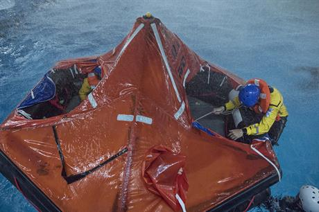 Storm survival at Maersk Training's centre near Newcasle