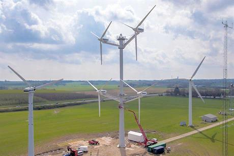 Vestas multi-rotor… Features four pitch-controlled variable-speed 225kW turbines