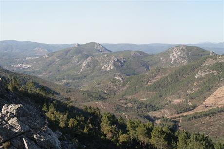 Perdigao, Portugal - Parallel, partly forested ridges, ideal for flow research