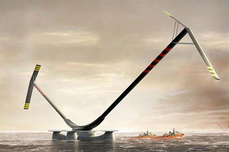 Radical… The 10MW vertical-axis Aerogenerator X using a floating platform caused a big stir when it was proposed in 2010