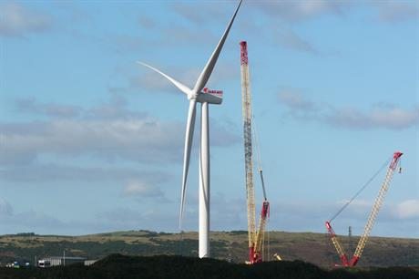 Siemens SWT-6.0-154… The long-bladed prototype is sited onshore at a test site in Scotland