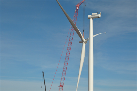 A 2.3-108 turbine being installed (pic Siemens)