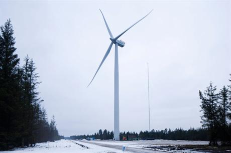 The project will use Siemens' 4MW turbine (shown in testing)