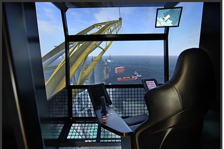 Simulator from the Offshore Simulator Centre, Norway