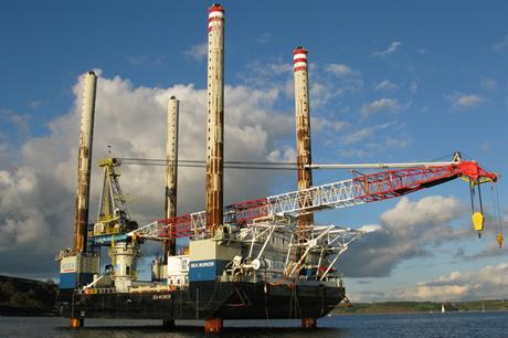 A2Sea's Sea Worker vessel installed the turbines at Gwynt y Môr