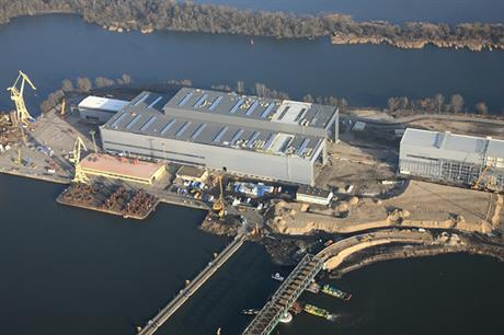 Bilfinger owns an offshore wind production facility in Szczecin, Poland
