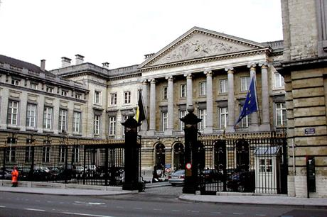 Belgium's parliament, Palace of the Nation in Brussels