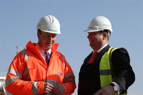 What now? Prime minister David Cameron and Siemens Energy CEO Michael Suess in Hull, where Siemens pledged to invest £160m in wind turbine production and installation facilities