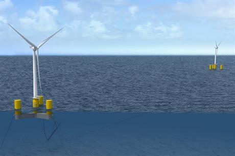 The semi-submersible platform is due to be installed at one on France's three floating wind sites