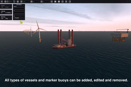 The simulator shows different possibilities on how the project will look