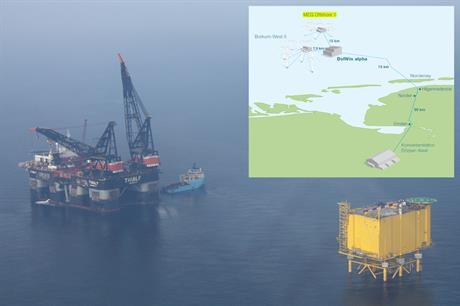 Windreich's MEG 1 9,000 ton converter platform DolWin alpha