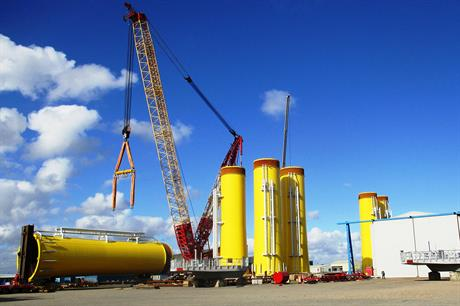 Offshore Structures Britain (OSB) provided transition pieces to Dong Energy's Walney Extension project
