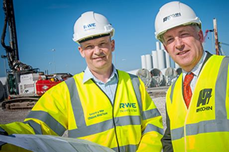 Project manager Stuart Quinton-Tulloch and Chris Whittaker of Pochin Construction