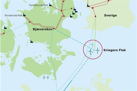 Kriegers Flak will be installed off Denmark's Baltic Sea coast