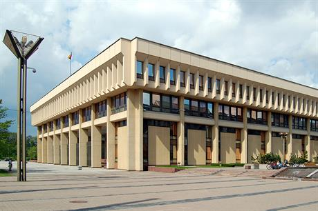 The Parliament building of the Lithuanian government (pic: Marcin Bialek)