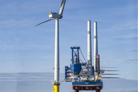 The first MHI Vestas V164 turbine has been installed at Dong Energy's Burbo Bank Extension