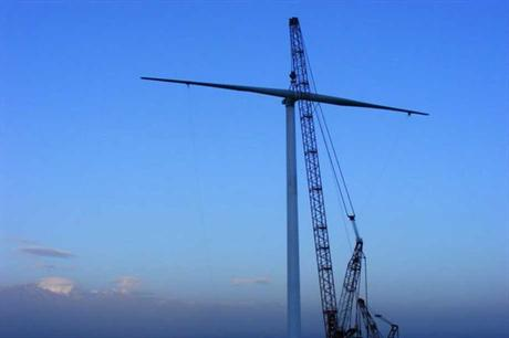 CCCC will install the Ming Yang 3MW turbines