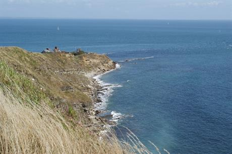 Durlston Head will be 14.3 kilometres from Navitus Bay (Pic: Andrew Writer)