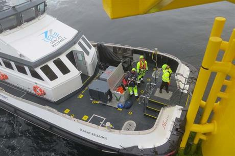 The Seacat Reliance will be used on the project