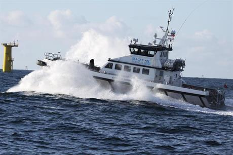 Seacat Services is providing four crew transfer vessels to Dong Energy's Burbo Bank Extension