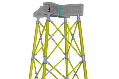 Siemens' new foundation type combines jacket and gravity-base foundations