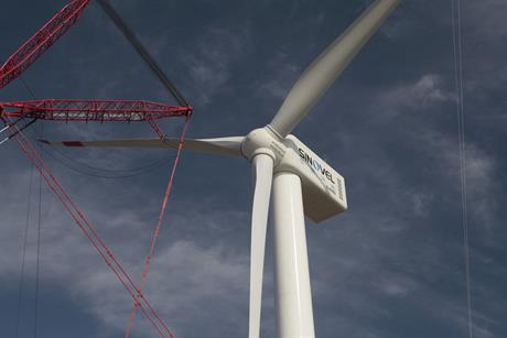 Sinovel's 6MW SL6000 turbine