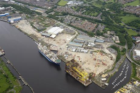 Smulders will manufacture the suction-bucket foundations at the Wallsend Yard, northeast England