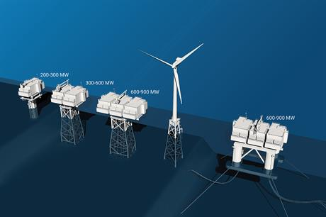 STX's modular substation design can even be placed on floating foundations