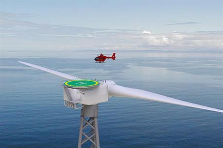 2-B Energy's 6MW two blade offshore turbine