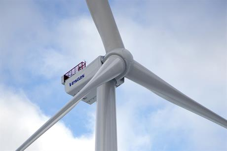 The Vestas V164 turbine is covered by the joint venture