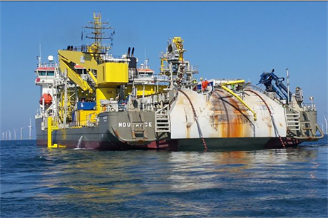 VBMS carried out a cable repair at RWE Innogy's Gwynt y Mor site in 2014