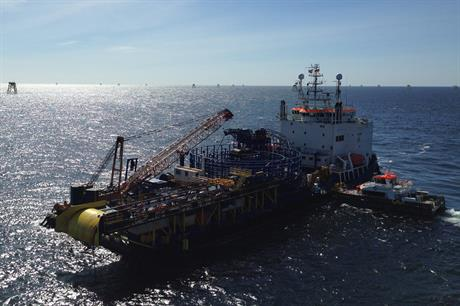 VSMC's Stemat Spirit was used to install cables at Nordsee Ost
