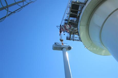 Vestas V112-3MW turbines have been installed on the 48MW offshore project