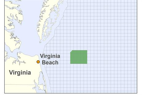 The location of the proposed Virginia project