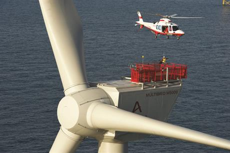 Areva  has made a framework  agreement for helicopter usage spread over  different wind farms