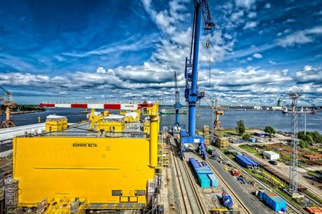 The Borwin Beta platform at Rostock port