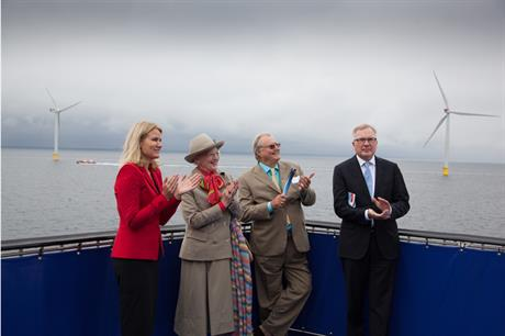 Denmark's largest offshore wind farm officially inaugurated