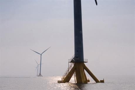 First wave… The inter-tidal Jiangsu Rudon demonstration project came online in 2012 (pic: Siemens)