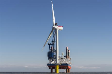 Siemens 6MW turbine has already been installed at Gunfleet Sands