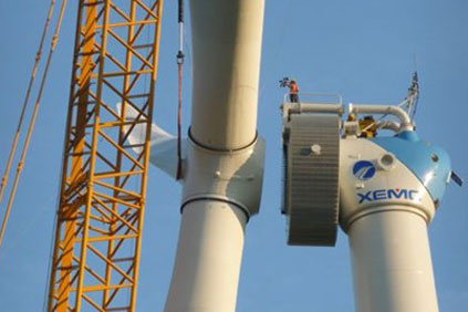 XEMC's 5MW turbine is being installed at Pinghaiwan