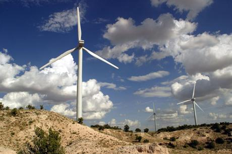 A wind farm in New Mexico