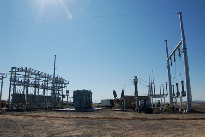 Avista's 230kV Boulder transmission substation