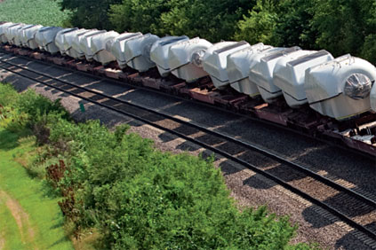 On track: Rail allows cost effective movement of large loads