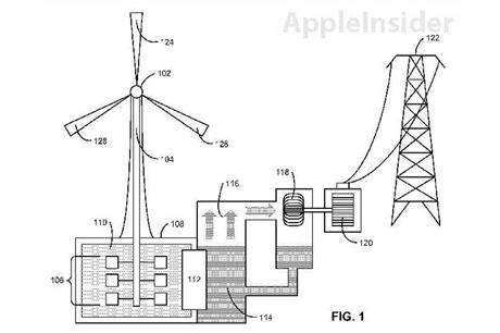 Apple wants to use low heat capacity liquid such as mercury in its storage design
