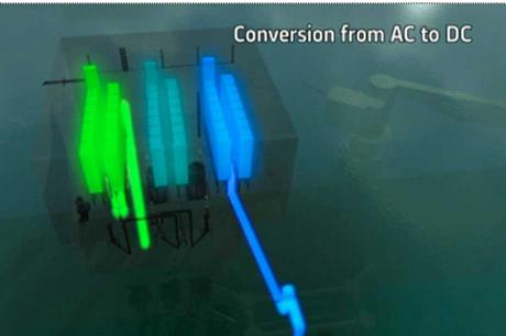 "Direct current ""voltage source conversion technology"" will be used to bring the power generated at sea to shore"