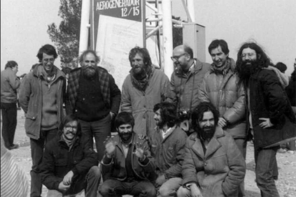 Ecotecnia's founding members at the inauguration of their first turbine in 1984