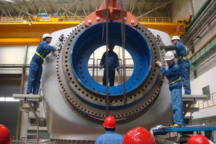 Shangai Electric 3.6 offshore turbine in production
