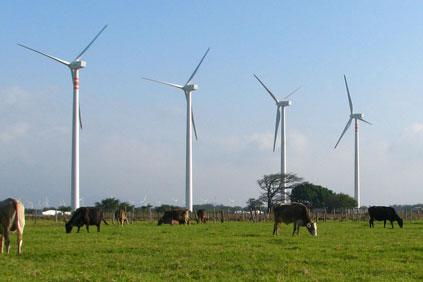 Acciona's 1.5mw turbine in use on the Eurus wind project in the Oaxaca region of Mexico